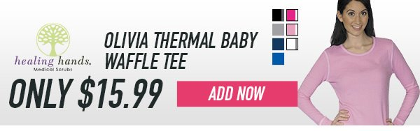 Healing Hands Olivia Thermal Baby Waffle Tee - Add Now