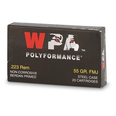 Wolf® .223 55 grain FMJ Ammo