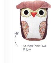 Stuffed Pink Owl