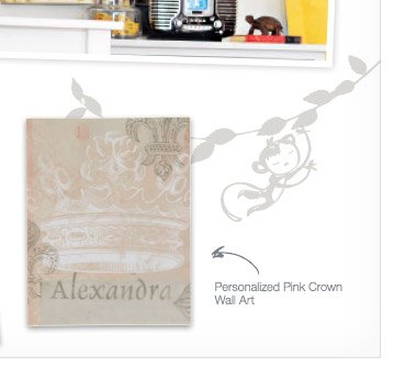Personalized Pink Crown Wall Art