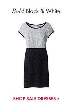Bold Black & White  SHOP SALE DRESSES