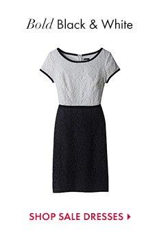 Bold Black & White  SHOP SALE DRESSES