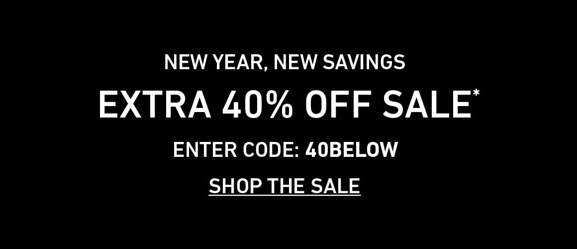 Extra 40% Off Sale. Enter Code: 40BELOW
