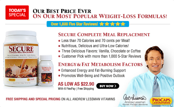 Secure Meal Replacement - 20 Servings
