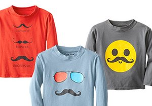 Mustache Mania: Cheeky Boys' Tees