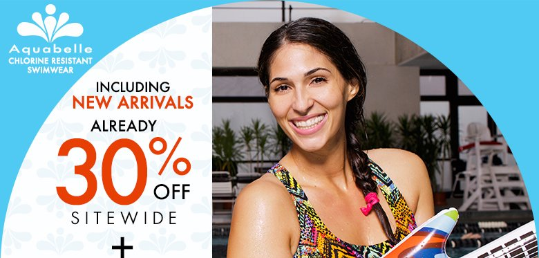 already up to 30% off sitewide + extra 20% off Aquabelle - use code: 14JAN26B - shop now