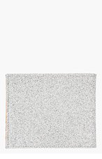 MAISON MARTIN MARGIELA Silver Glitter Bifold Wallet for men
