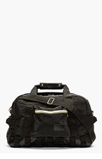 KRISVANASSCHE BLACK padded NYLON convertible DUFFLE bag for men