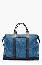 ORLEBAR BROWN Blue leather-trimmed TAYLOR tote bag for men
