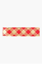 THOM BROWNE RED Gingham check TIE BAR for men