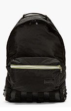 KRISVANASSCHE Black Nylon Backpack for men