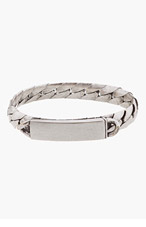MAISON MARTIN MARGIELA Silver Curb Chain I.D. Bracelet for men