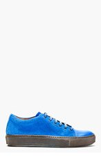 ACNE STUDIOS Blue Suede Sneakers for men
