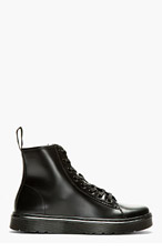 DR. MARTENS Black Smooth Leather 8-Eye Mayer Boots for men