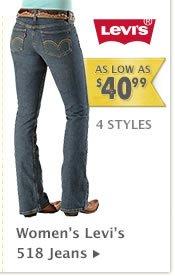 Womens Levis 518 Jeans