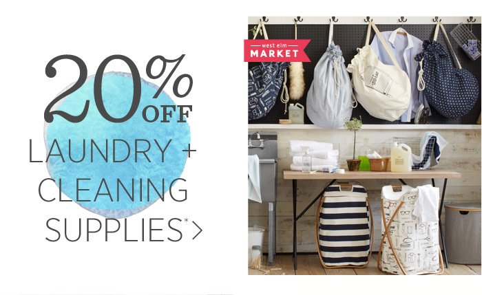 20% Off  Laundry + Cleaning Suppplies*