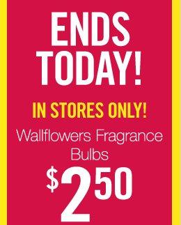 Wallflowers Fragrance Bulbs – $2.50