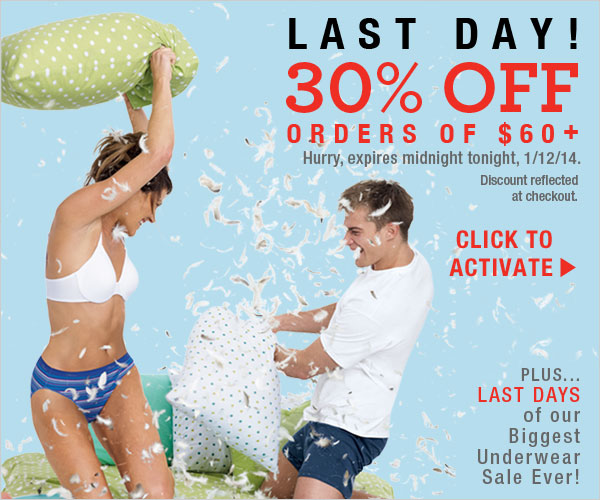 Last Day: 30% off orders $60+