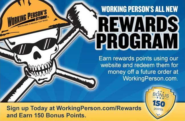 Join the Working Person's Store Rewards Program!