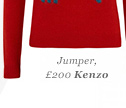 Jumper, £200 Kenzo