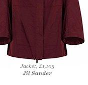 Jacket, £1,105 Jil Sander