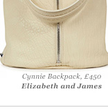 Cynnie Backpack, £450 Elizabeth and James
