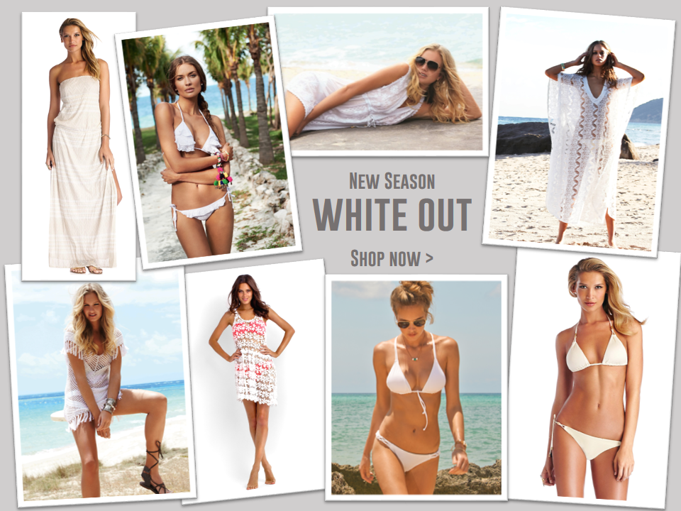 NEW SEASON White Out - Shop the new collections of gorgeous white beachwear.