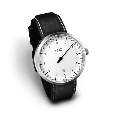 Uno Alpine Auto Leather // White Dial