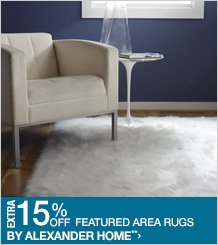 Extra 15% off Featured Area Rugs by Alexander Home**