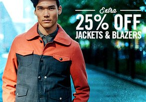 Shop Extra 25% Off: Jackets & Sweaters