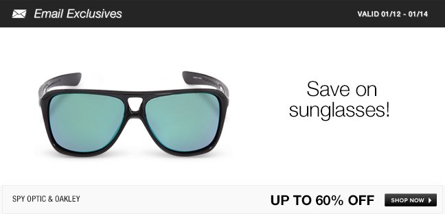 Save on sunglasses!