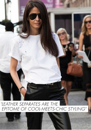 LEATHER SEPARATES ARE THE EPITOME OF COOL-MEETS-CHIC STYLING