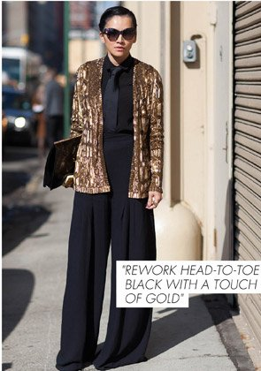 REWORK HEAD-TO-TOE BLACK WITH A TOUCH OF GOLD
