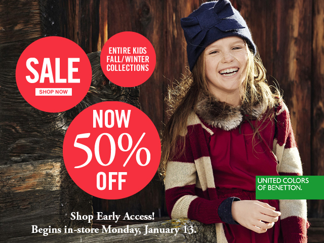 All Kids Fall-Winter Collections 50% OFF. Shop Now!