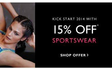 15% off Sportswear