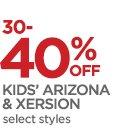 30-40% OFF KIDS' ARIZONA & XERSION   select styles