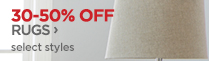 30-50% OFF RUGS ›   select styles