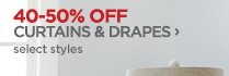 40-50% OFF CURTAINS & DRAPES ›   select styles