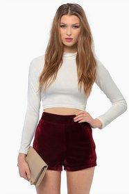 Infatuation Velour Shorts 22