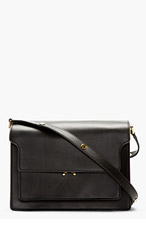 MARNI Black Leather Small Shoulder Bag for women
