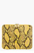 STELLA MCCARTNEY Yellow & black snakeskin Ipad case for women