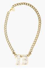 LANVIN Gold & Crystal Digit Necklace for women
