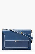 MARNI Blue Leather Small Shoulder Bag for women