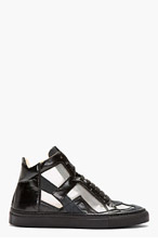 MM6 MAISON MARTIN MARGIELA Black Cut-Out Iris High-Top Sneakers for women