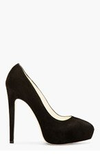 BRIAN ATWOOD Black Suede Platform Obsession Pumps for women