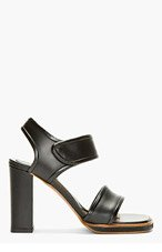 MARNI Black Leather Heeled Sandals for women