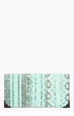 ALEXANDER WANG Peppermint Snakeskin Prisma Skeletal Continental Wallet for women