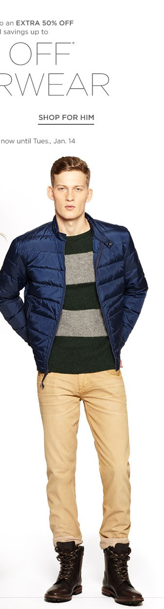 Up to 75% off Outerwear