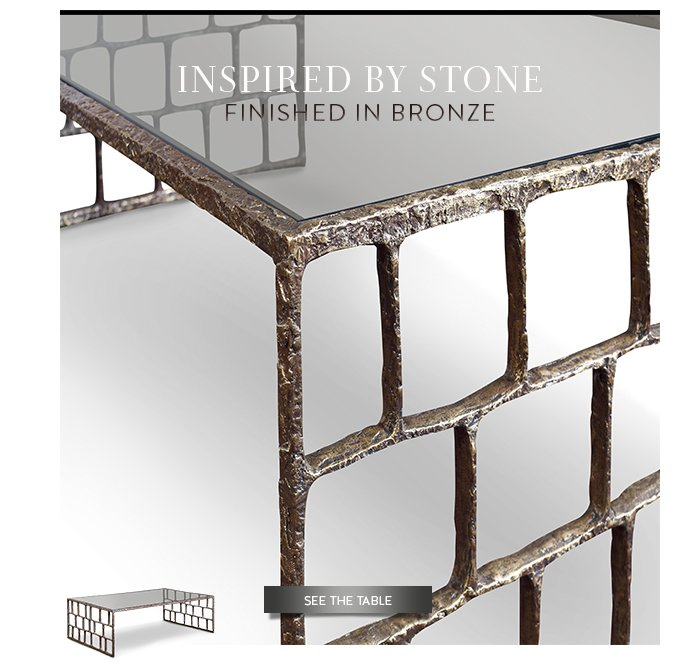 Inspired by Stone | Finished in Bronze | See the Table