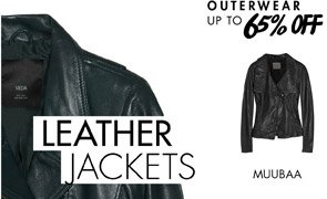 LEATHER JACKETS - UP TO 65% OFF